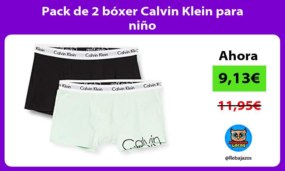 Pack de 2 boxer Calvin Klein para nino