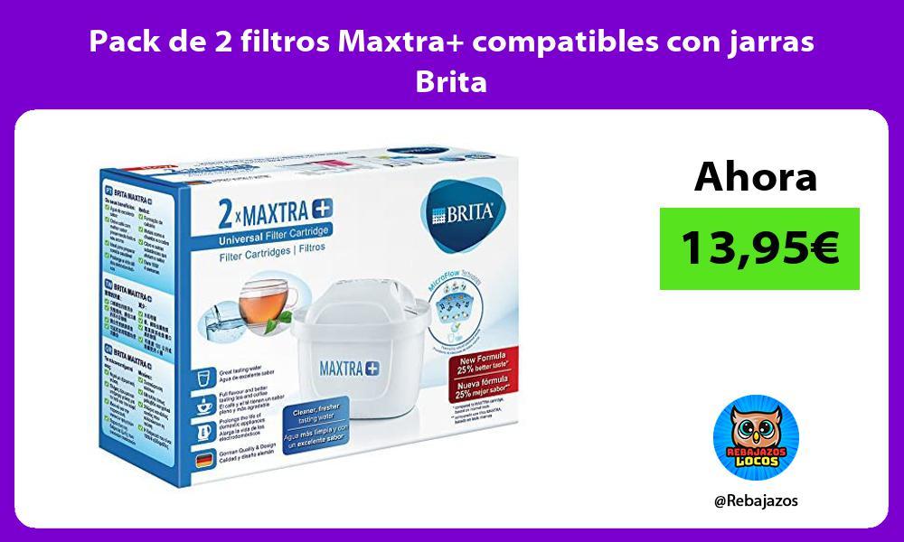 Pack de 2 filtros Maxtra compatibles con jarras Brita