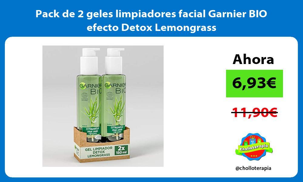 Pack de 2 geles limpiadores facial Garnier BIO efecto Detox Lemongrass