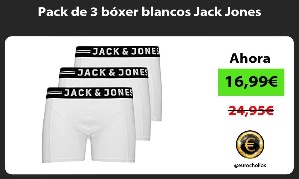 Pack de 3 boxer blancos Jack Jones
