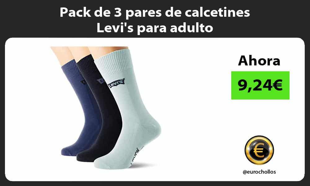 Pack de 3 pares de calcetines Levis para adulto