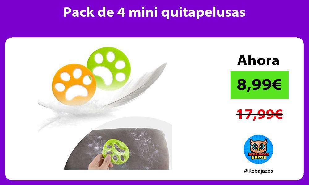Pack de 4 mini quitapelusas
