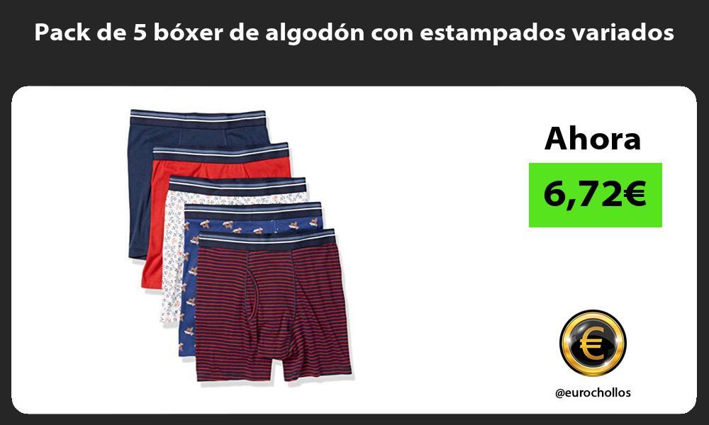 Pack de 5 boxer de algodon con estampados variados