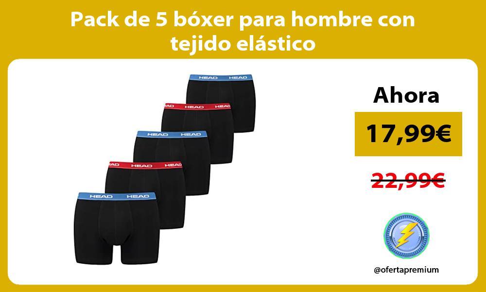 Pack de 5 boxer para hombre con tejido elastico