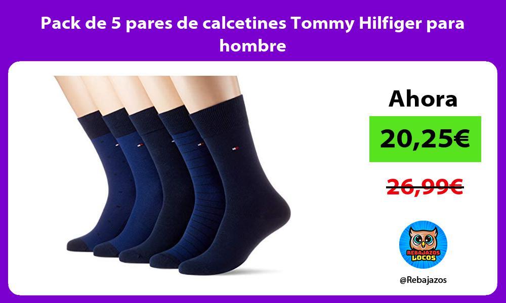 Pack de 5 pares de calcetines Tommy Hilfiger para hombre