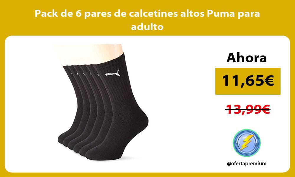Pack de 6 pares de calcetines altos Puma para adulto