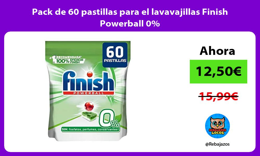 Pack de 60 pastillas para el lavavajillas Finish Powerball 0