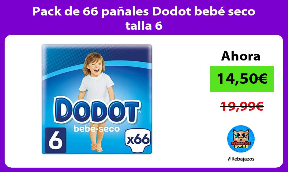 Pack de 66 panales Dodot bebe seco talla 6