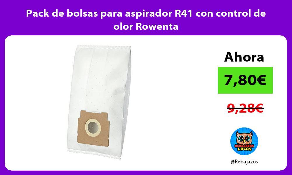 Pack de bolsas para aspirador R41 con control de olor Rowenta