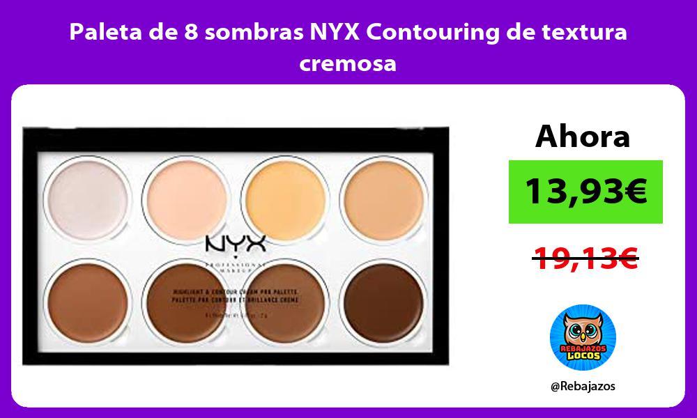 Paleta de 8 sombras NYX Contouring de textura cremosa