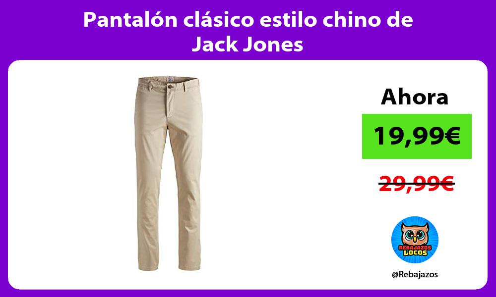 Pantalon clasico estilo chino de Jack Jones