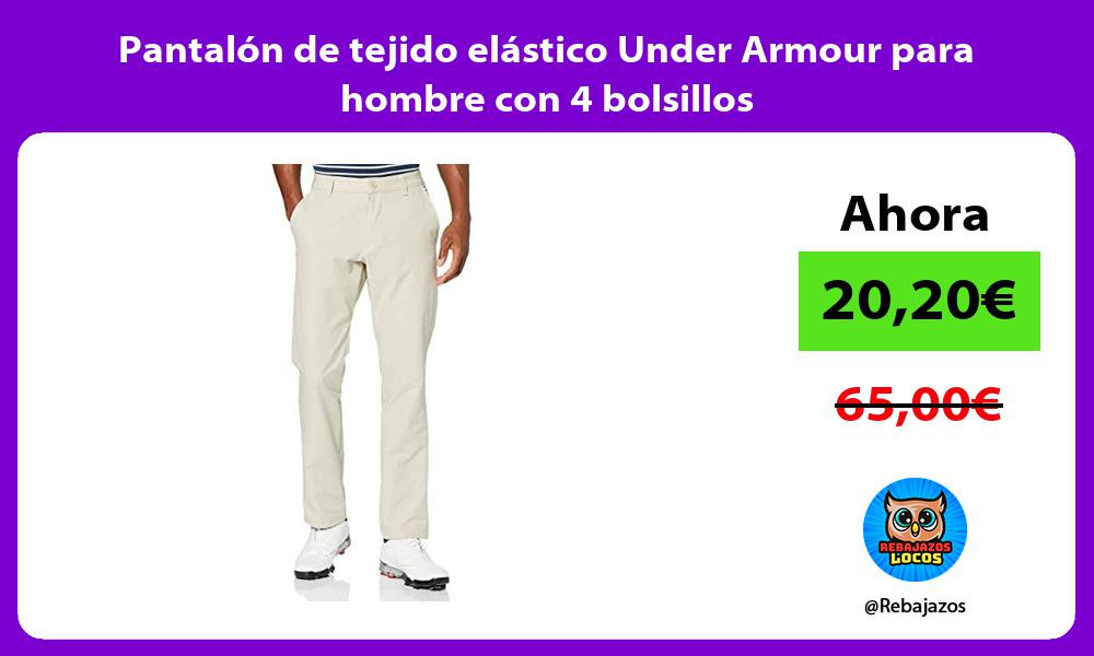 Pantalon de tejido elastico Under Armour para hombre con 4 bolsillos