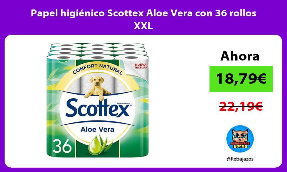 Papel higienico Scottex Aloe Vera con 36 rollos XXL