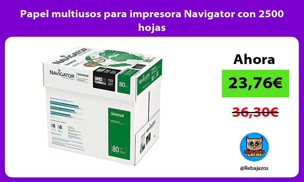 Papel multiusos para impresora Navigator con 2500 hojas