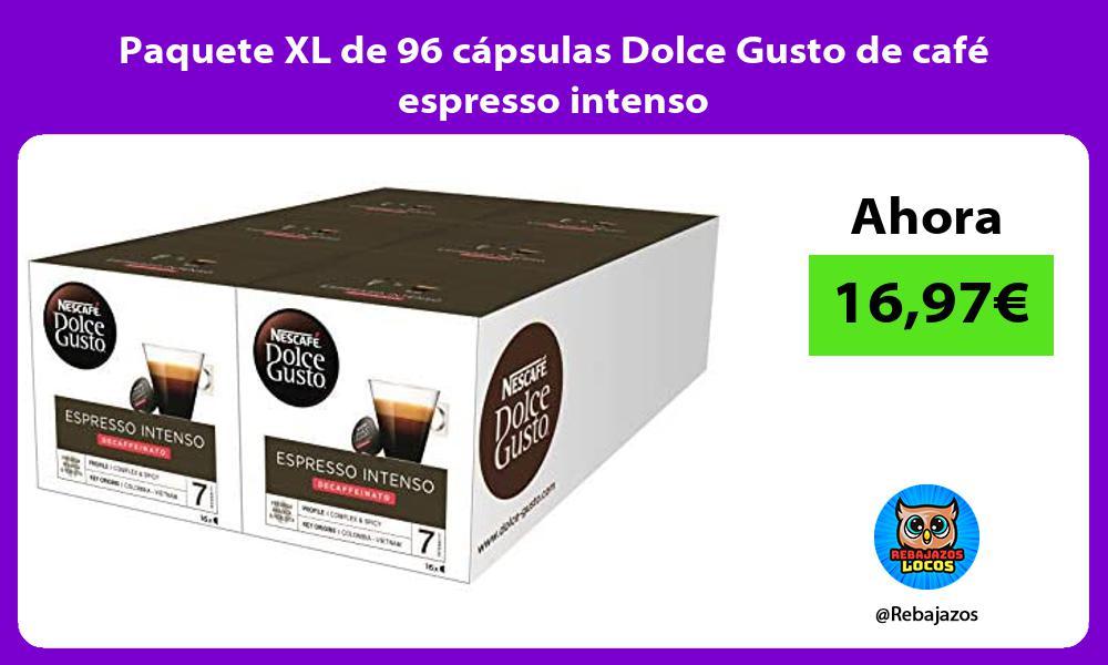 Paquete XL de 96 capsulas Dolce Gusto de cafe espresso intenso