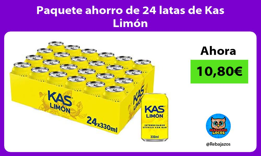 Paquete ahorro de 24 latas de Kas Limon