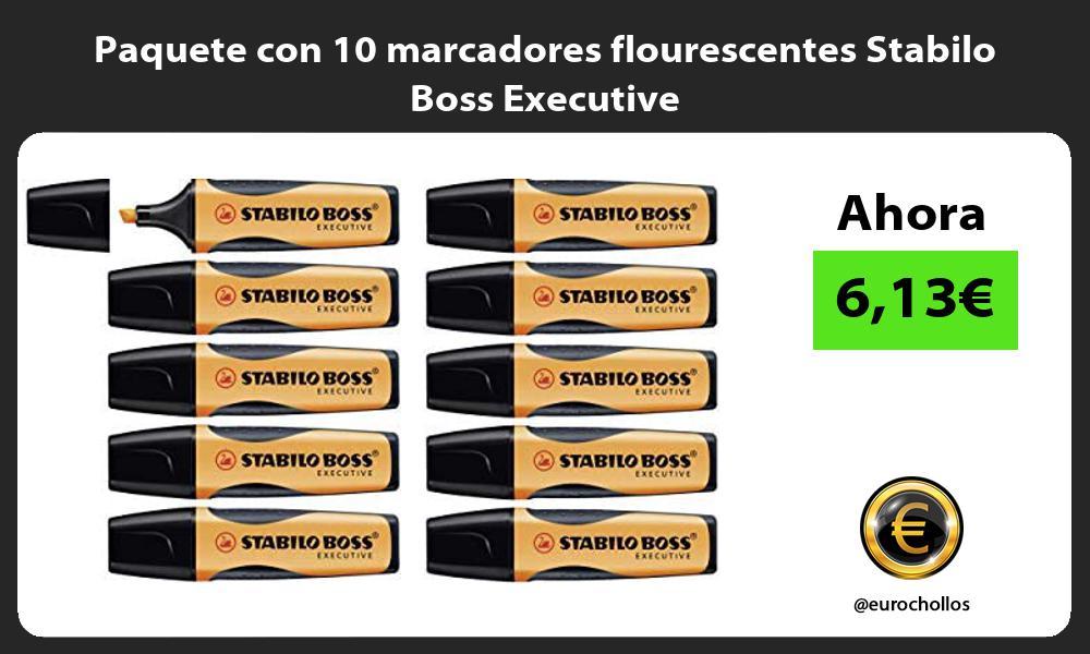 Paquete con 10 marcadores flourescentes Stabilo Boss Executive