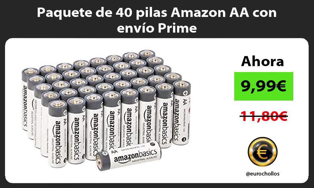 Paquete de 40 pilas Amazon AA con envio Prime