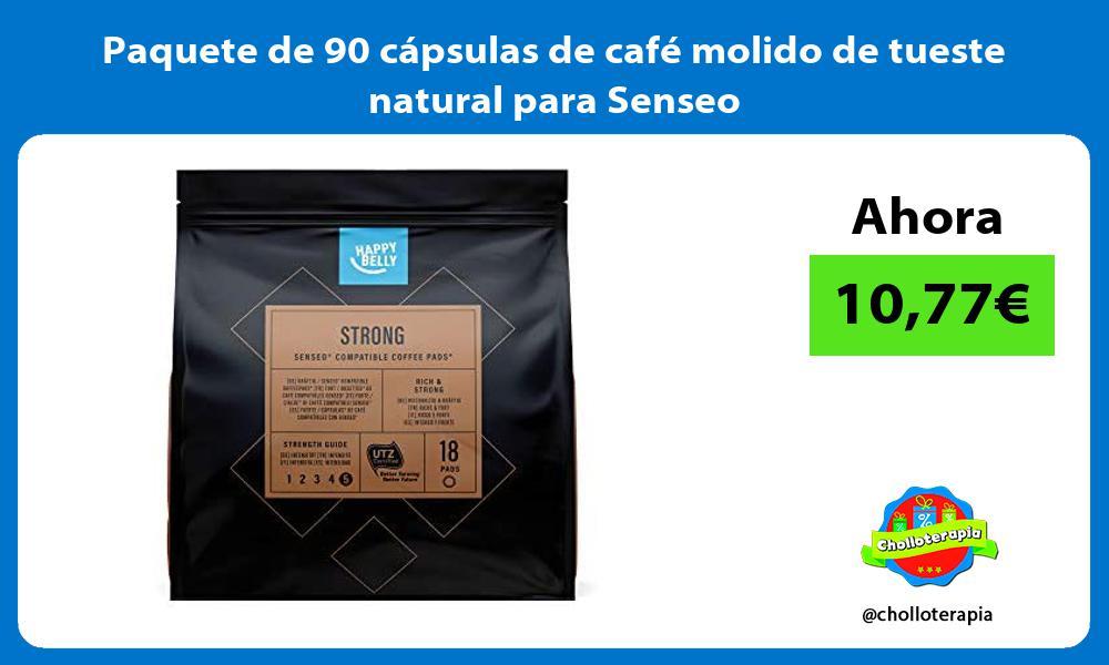 Paquete de 90 capsulas de cafe molido de tueste natural para Senseo