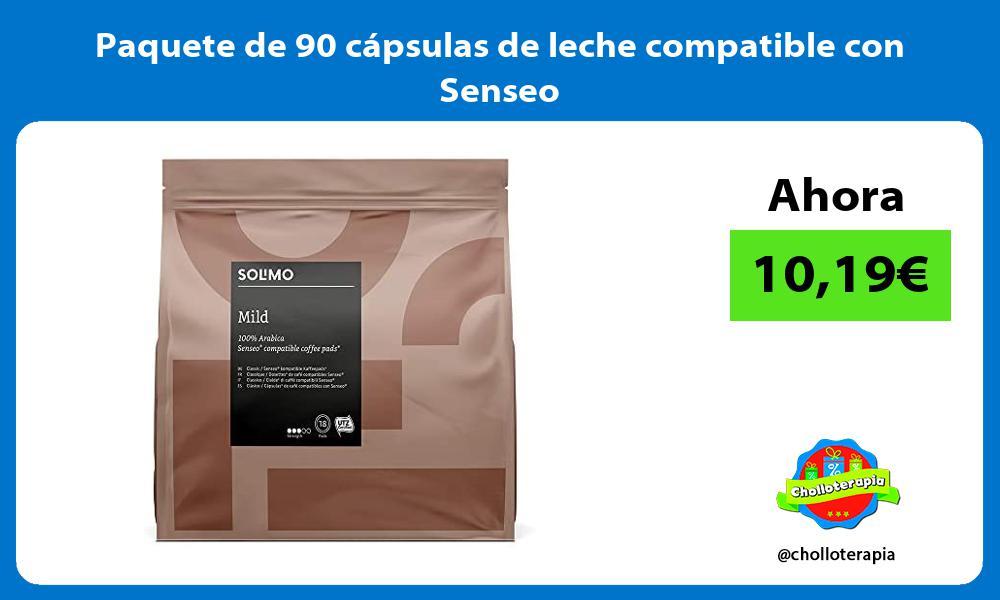 Paquete de 90 capsulas de leche compatible con Senseo