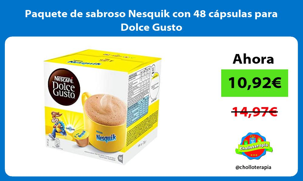 Paquete de sabroso Nesquik con 48 capsulas para Dolce Gusto