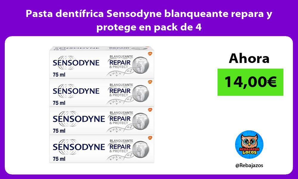 Pasta dentifrica Sensodyne blanqueante repara y protege en pack de 4