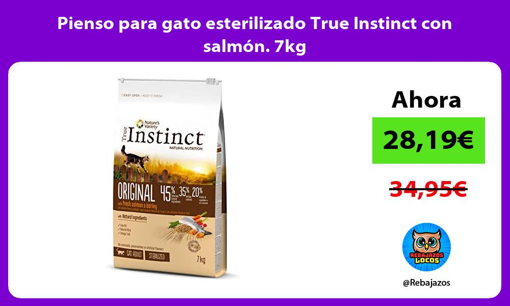 Pienso para gato esterilizado True Instinct con salmon 7kg