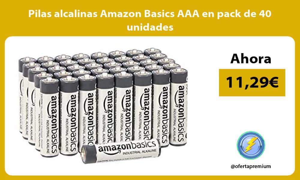 Pilas alcalinas Amazon Basics AAA en pack de 40 unidades