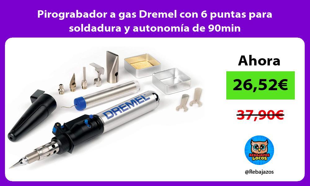 Pirograbador a gas Dremel con 6 puntas para soldadura y autonomia de 90min