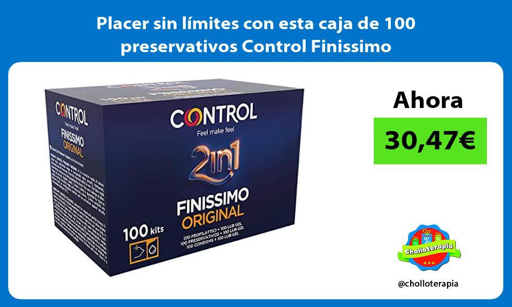 Placer sin limites con esta caja de 100 preservativos Control Finissimo