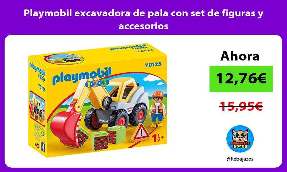 Playmobil excavadora de pala con set de figuras y accesorios