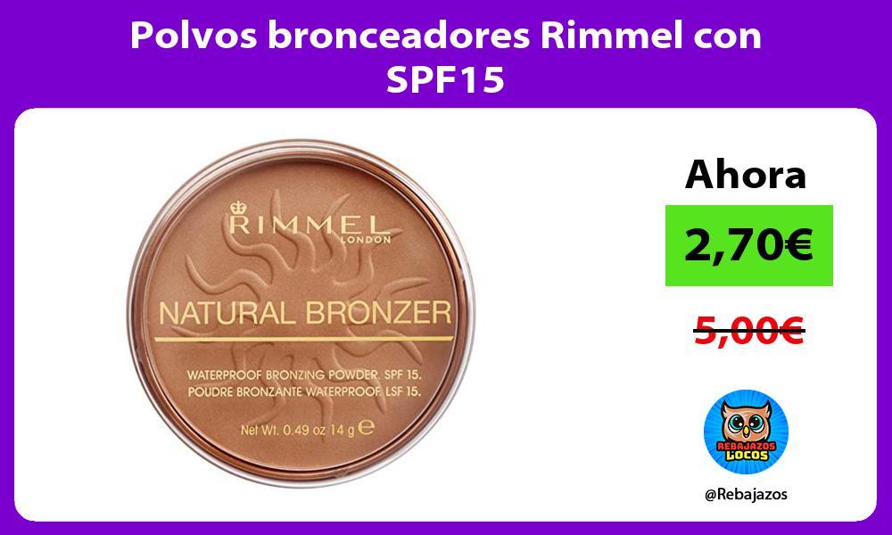 Polvos bronceadores Rimmel con SPF15