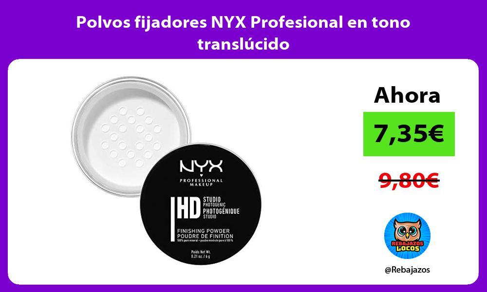 Polvos fijadores NYX Profesional en tono translucido