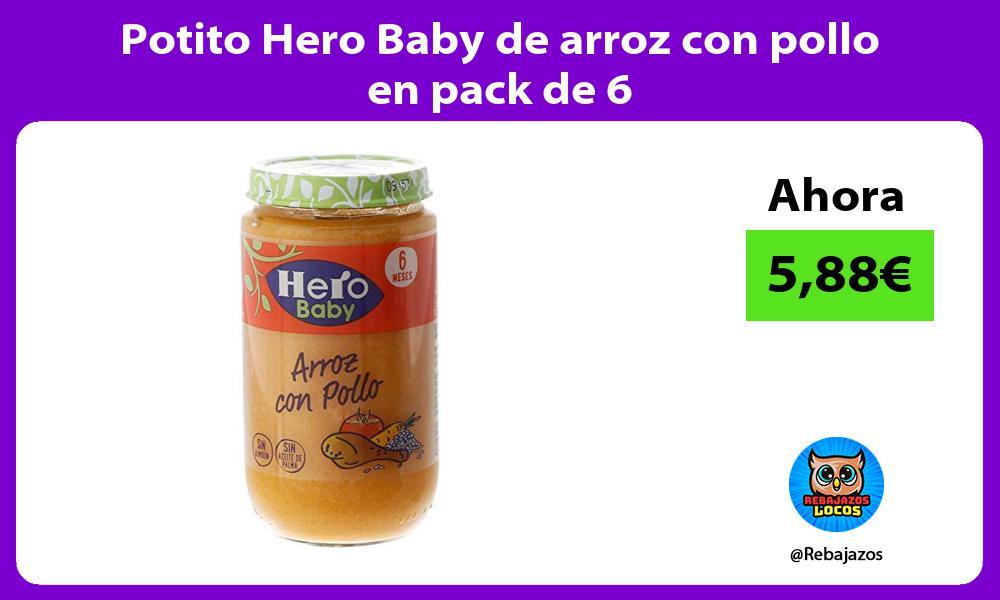Potito Hero Baby de arroz con pollo en pack de 6