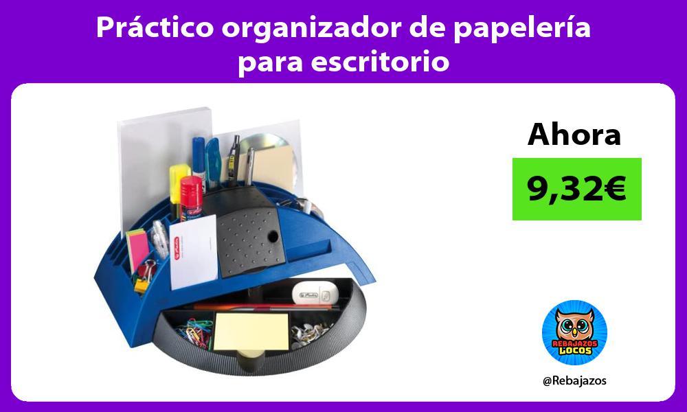 Practico organizador de papeleria para escritorio