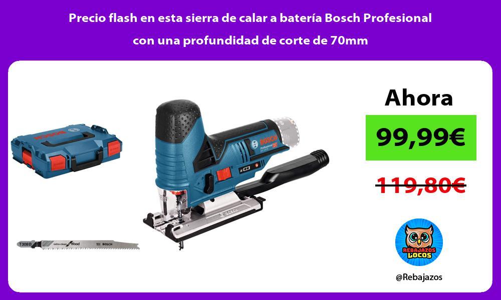 Precio flash en esta sierra de calar a bateria Bosch Profesional con una profundidad de corte de 70mm