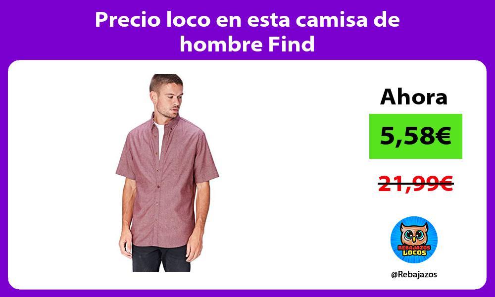 Precio loco en esta camisa de hombre Find