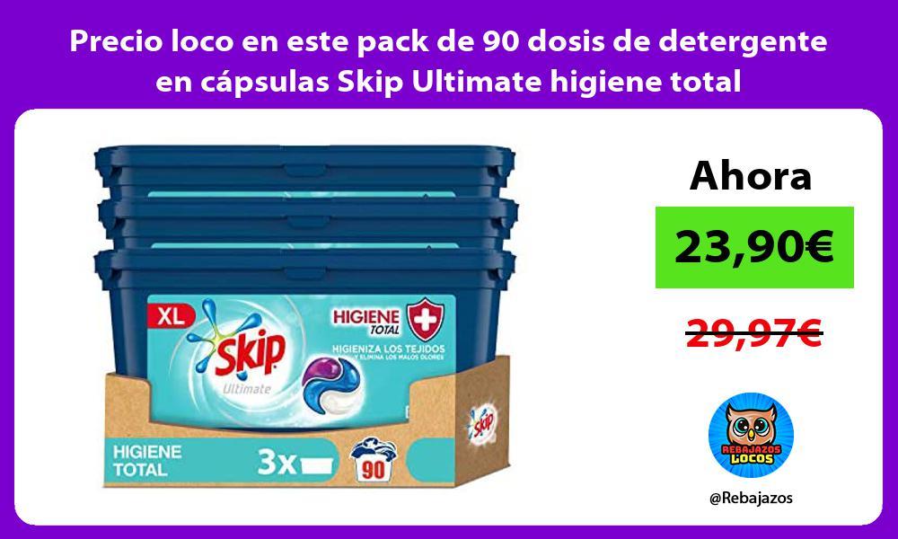 Precio loco en este pack de 90 dosis de detergente en capsulas Skip Ultimate higiene total