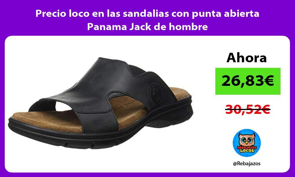 Precio loco en las sandalias con punta abierta Panama Jack de hombre