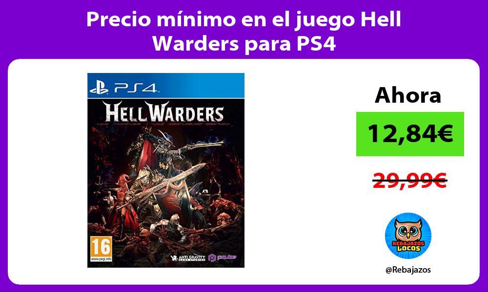 Precio minimo en el juego Hell Warders para PS4