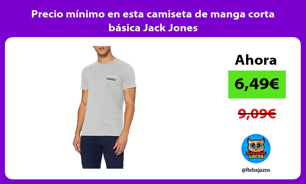 Precio minimo en esta camiseta de manga corta basica Jack Jones