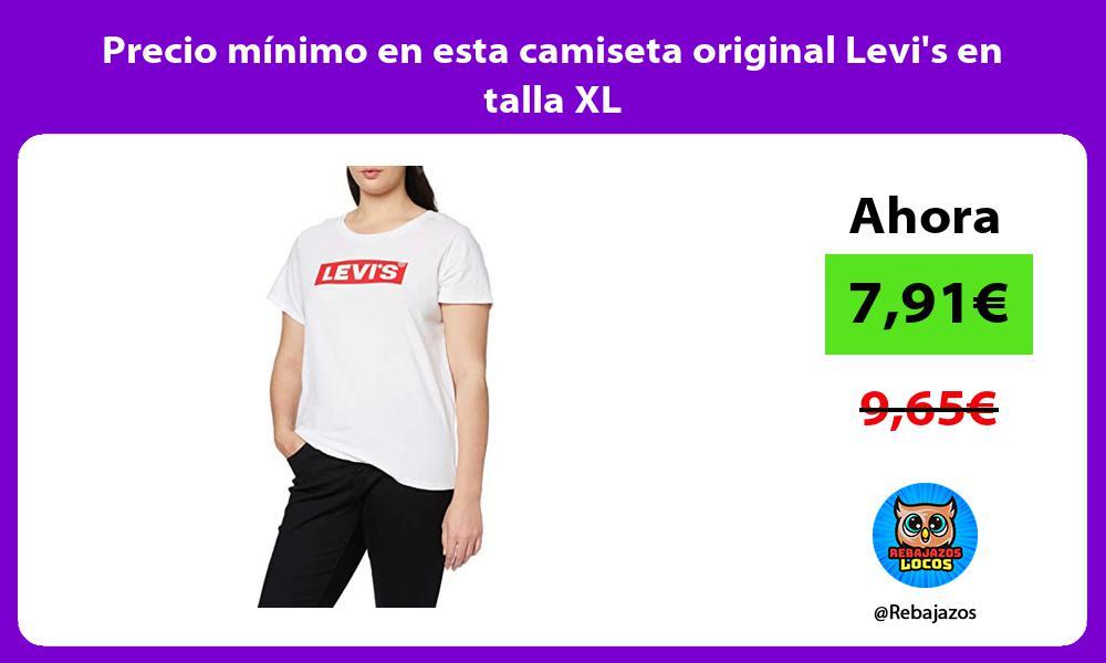Precio minimo en esta camiseta original Levis en talla XL