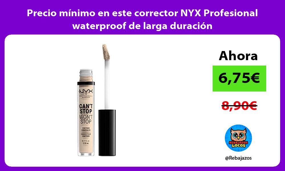 Precio minimo en este corrector NYX Profesional waterproof de larga duracion