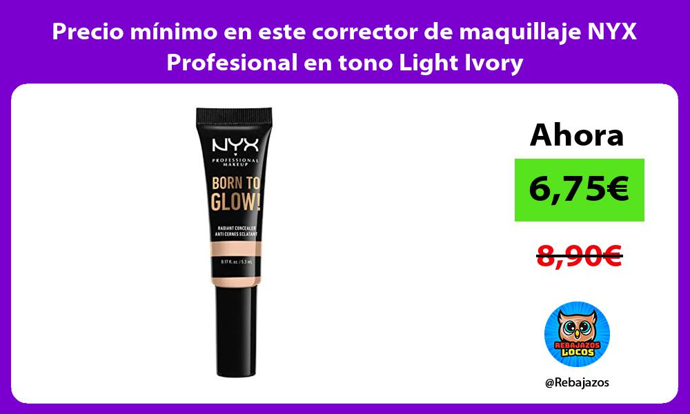 Precio minimo en este corrector de maquillaje NYX Profesional en tono Light Ivory
