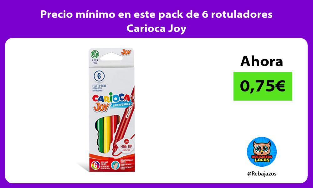 Precio minimo en este pack de 6 rotuladores Carioca Joy
