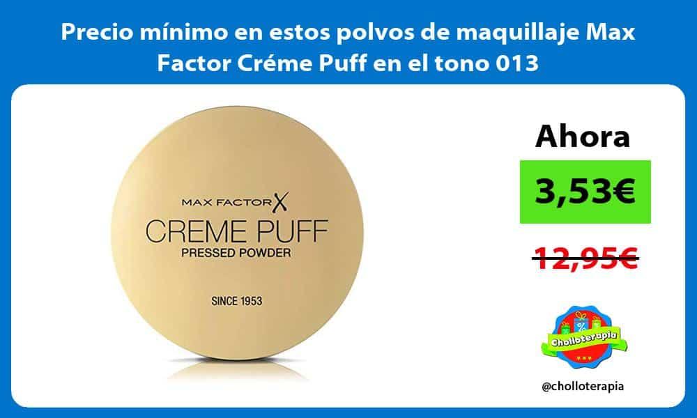 Precio minimo en estos polvos de maquillaje Max Factor Creme Puff en el tono 013