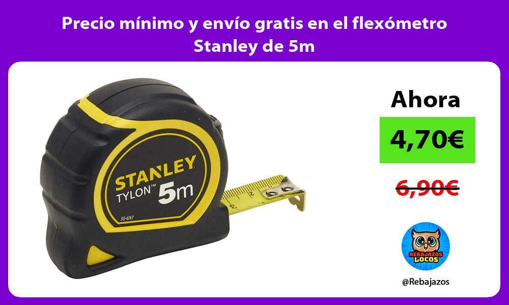 Precio minimo y envio gratis en el flexometro Stanley de 5m