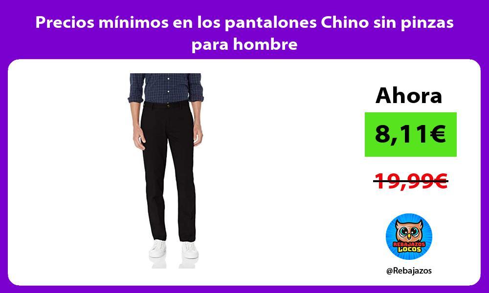 Precios minimos en los pantalones Chino sin pinzas para hombre