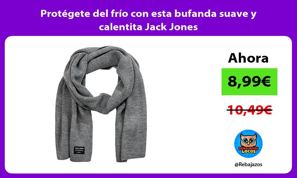 Protegete del frio con esta bufanda suave y calentita Jack Jones