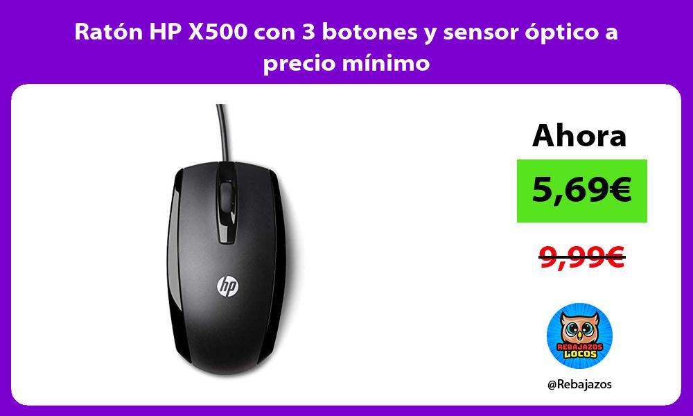 Raton HP X500 con 3 botones y sensor optico a precio minimo